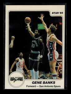 1984-85-Star-Company-ERROR-GENE-BANKS-card-NO-NUMBER-MISCUT-BACK