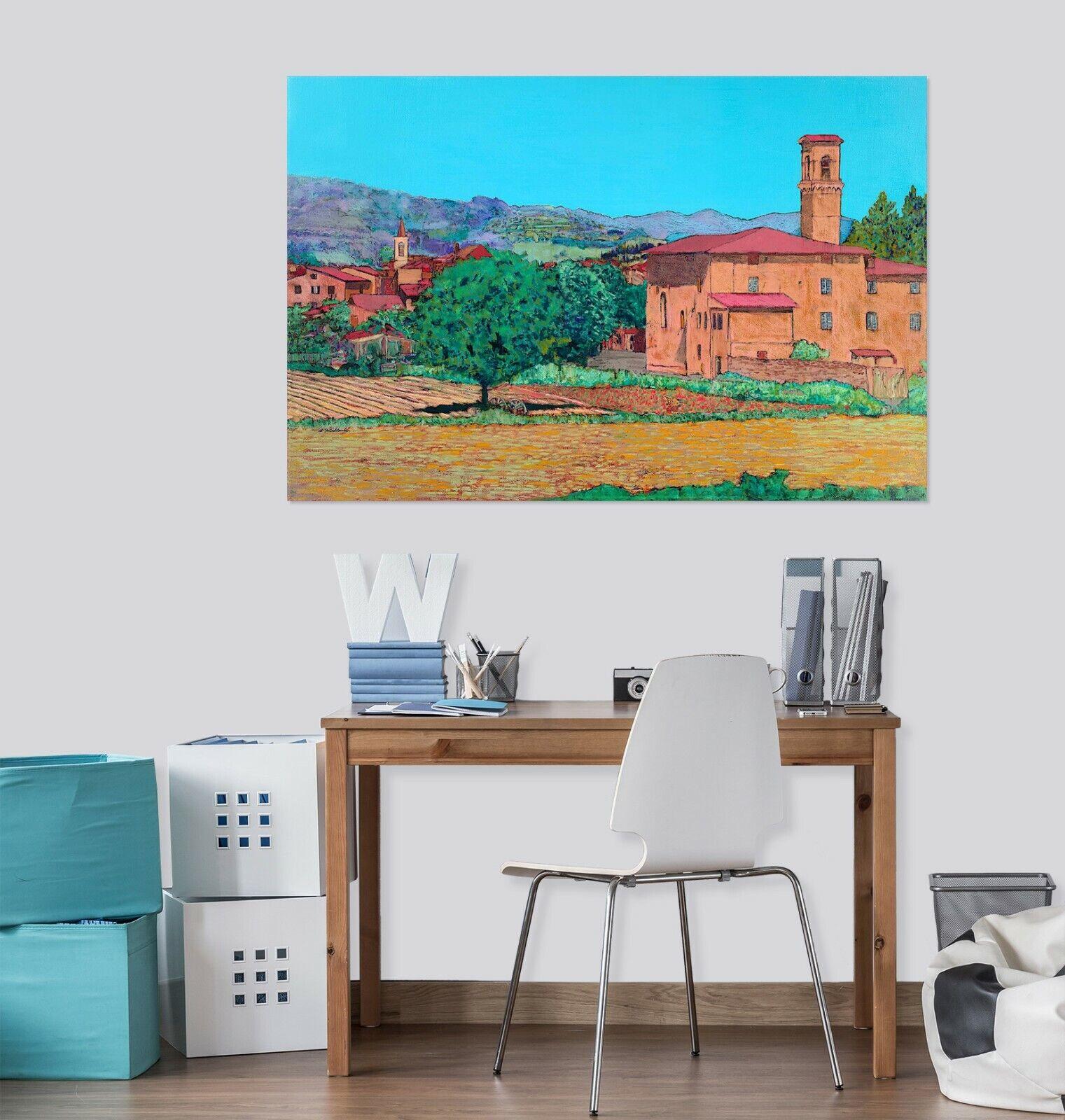 3D Tuscan Farm Village 169NAO Wall Stickers Vinyl Wallpaper Murals Allan P Ava