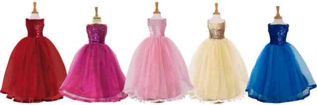 Children's Kids Flower Girls Ballgown Ballroom Bridesmaid Ball Gown Party Dress