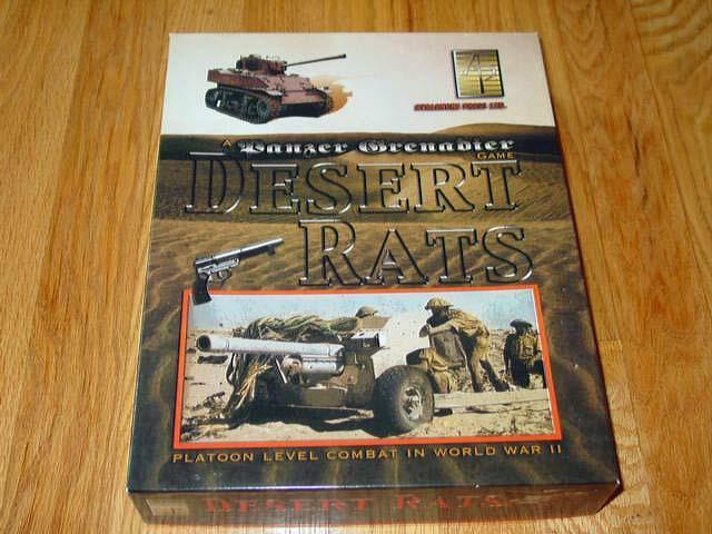 Avalanche Press 2004 - Desert Rats - Panzer Grenadier Game (UNPUNCHED) - RARE