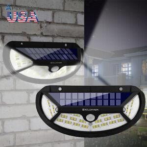 100-LED-Luz-de-Seguridad-Solar-Sensor-De-Movimiento-Infrarrojo-Pasivo-Impermeable-Porche-De-Jardin