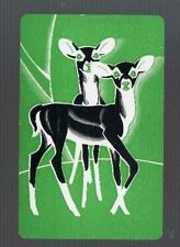 Playing  SWAP Cards 1 VINT U.S. GENUINE DEER  FAWN  ANIMALS  GREAT IMAGE 575