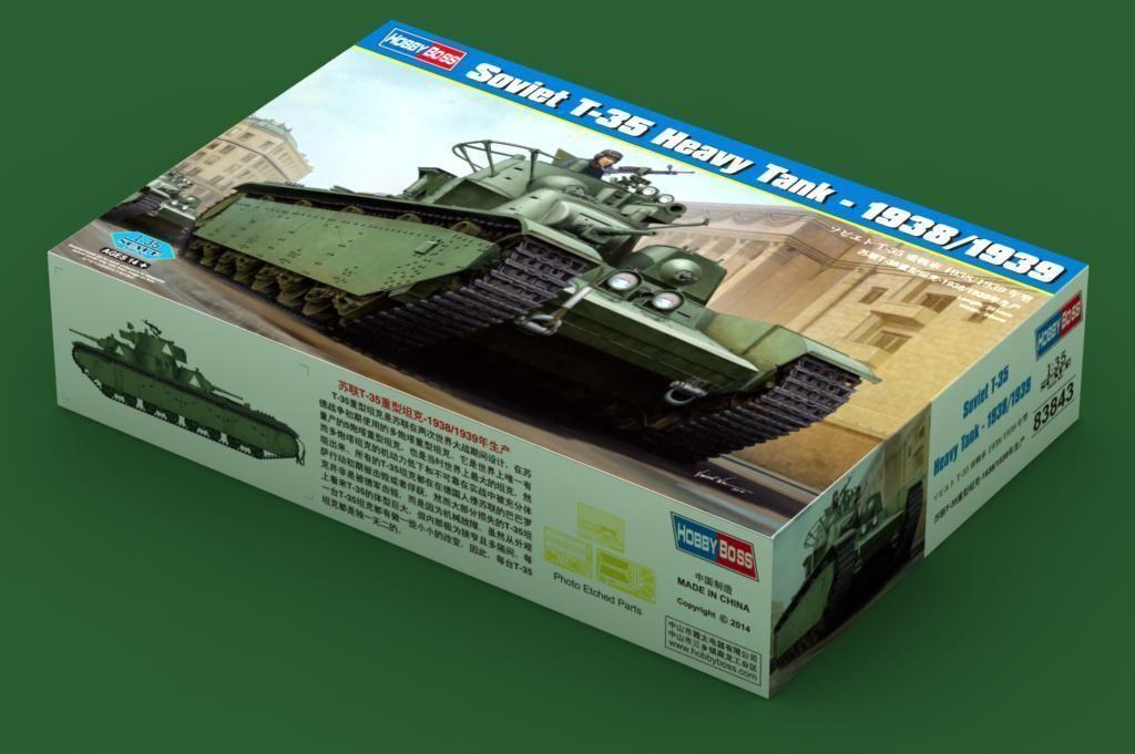 83843 Hobbyboss Soviet T-35 Heavy Tank 1938 1939 Armored Car Plastic 1 35 Model