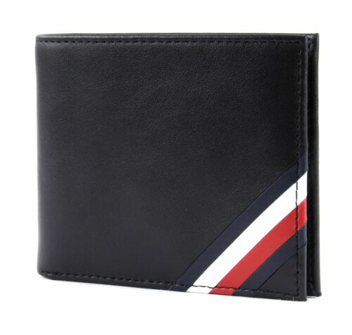 TOMMY HILFIGER Corp Edge Mini CC Wallet Geldbörse Black Schwarz Neu