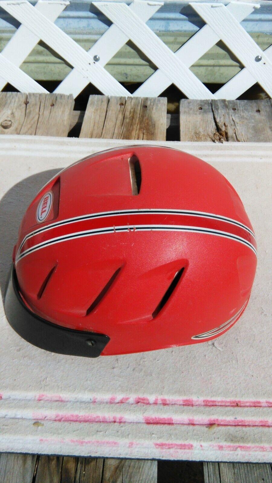 Vintage rosso Bell Bicycle Helmet Tourlite WAdjustable Glare Visor Dimensione Medium
