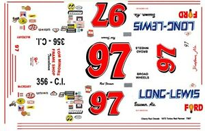 #97 Red Farmer Long_Lewis Ford 1/24th - 1/25th Scale Decals