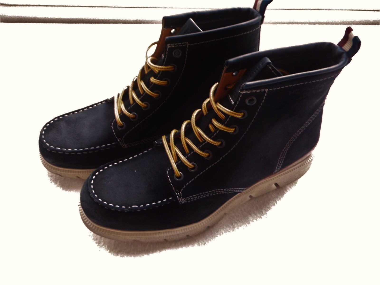 Tommy Hilfiger Business-Schuhe Wildleder Business-Schuhe Hilfiger Stiefel Gr.44 NEU! 0a46bf
