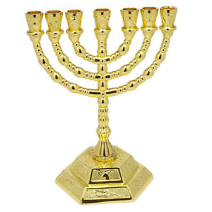 Gold-Plated-Handmade-7-Branched-Jewish-Hanukkah-Menorah-from-Jerusalem-Gift-5-034