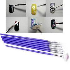 7 Stück Nagel Nail Art Set Pinsel Pen Stift Bürsten Nageldesign Set Werkzeug Neu