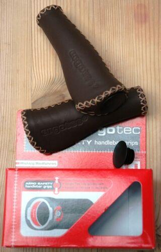 Humpert ALS Monaco Stitched Leather Ergonomic Lock-on Bicycle Handlebar Grips