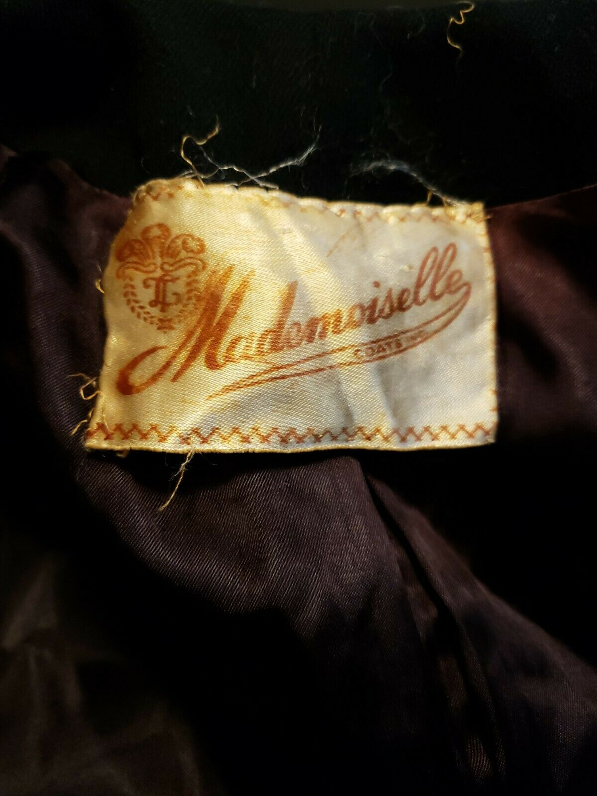 Vtg 40's 50's Mademoiselle Inc Wool Black Beaded … - image 10