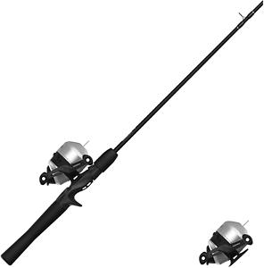 Zebco 33 Spincast Reel and 2-Piece Fishing Rod Combo, 5.5-Foot Durable Fiberglas