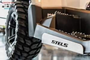 STELS Guepard 650/850 Trittbrett Kantenschutz aus Aluminium mit LOGO