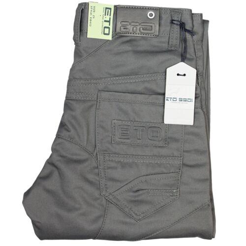 Garçons Enfants Jeans ETO EB452 coupe droite gris tous Designer Pantalon réduit vente