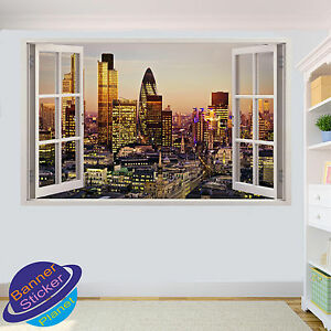 Colorful Casino Vegas WALL STICKER 3D SMASHED ROOM DECORATION DECAL MURAL YS4