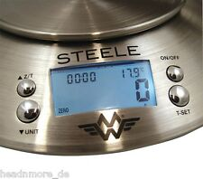My Weigh Stainless Steel Digital Kitchen Timer & Thermometer Scale + Bowl 5kg