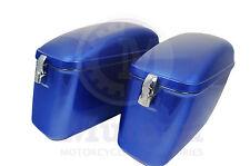 LW Hard Saddle bags Cobalt blue  fits most Vulcan VN 750 800 900 1500 1600 1700
