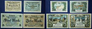 Ostprussen-Memelgebiet-Notgeld-des-Handelskammer-1-2-5-10-Mark-1922
