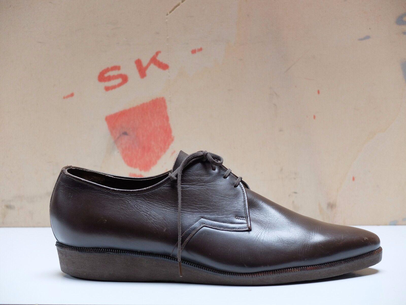 Salamander Chaussures Hommes semelle semelle semelle talon compense cuir taille 41 Chaussure Lacée uk 7 true vintage c0375e