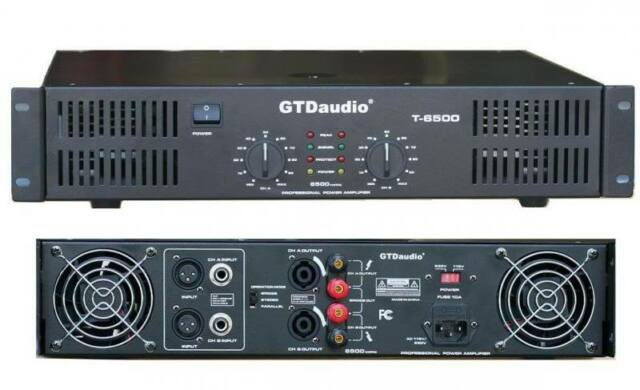 2 Channel 6500 Watts Professional Power Amplifier AMP Stereo GTD-Audio T-6500