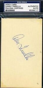 Danny Frisella Signed Psa/dna 3x5 Index Card Autograph Authentic