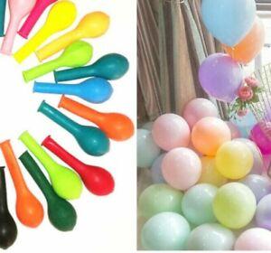 """100 X 5"""" Pastel Couleur & Plain Mix Petits Ballons Décoratifs cas montrer ballon"""