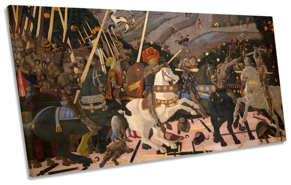 Paolo Uccello San Romano Battle  Bild PANORAMIC CANVAS Wand Kunst Drucken