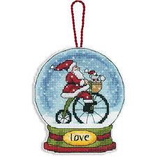 Cross Stitch Kit ~ Dimensions Santa Love Snow Globe Christmas Ornament #70-08903