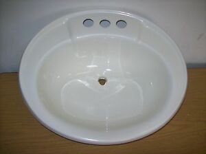 Amazing Details About Mobile Home RV Marine Bathroom Sink 17quotX20quot Oval Whi