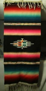 vintage-old-wool-Native-American-saddle-blanket-rug-dance-shawl-wall-hanging