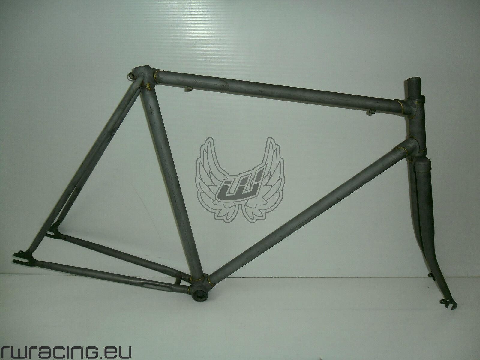 Telaio fixed grezzo con forcella  per ruote da 28 o 700  raw fixed frame