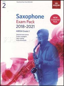 Saxophone Exam Pack 2018-2021 Abrsm Grade 2 Musique Livre Audio/écailles Arpèges-afficher Le Titre D'origine Vente Chaude 50-70% De RéDuction