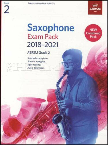 Saxophone Exam Pack 2018-2021 ABRSM Grade 2 Music Book//Audio Scales Arpeggios