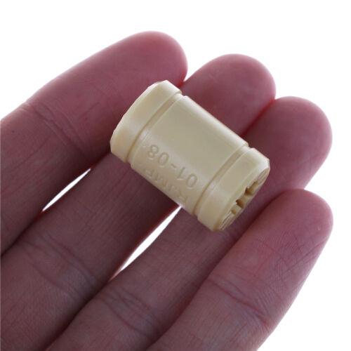 3D Drucker LM8UU Lager 8mm Welle Igus Drylin RJMP-01-08 Beige ^