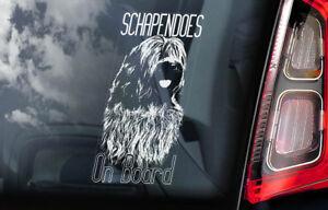 Schapendoes-On-Board-Auto-Finestrino-Adesivo-Olandese-Cane-da-Pastore