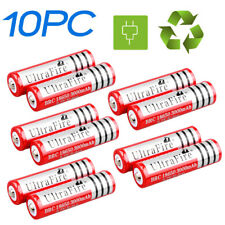 10x 3.7v BRC 18650 5000mah Rechargeable Blue Battery for Headlamp US