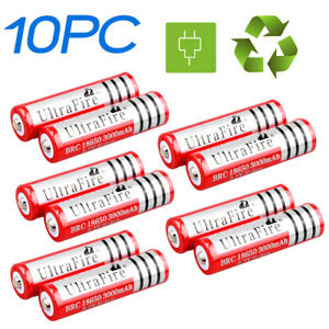 10x-18650-3-7V-3000mAh-Li-ion-Rechargeable-Battery-Cell-For-Torch-Flashlight-USA