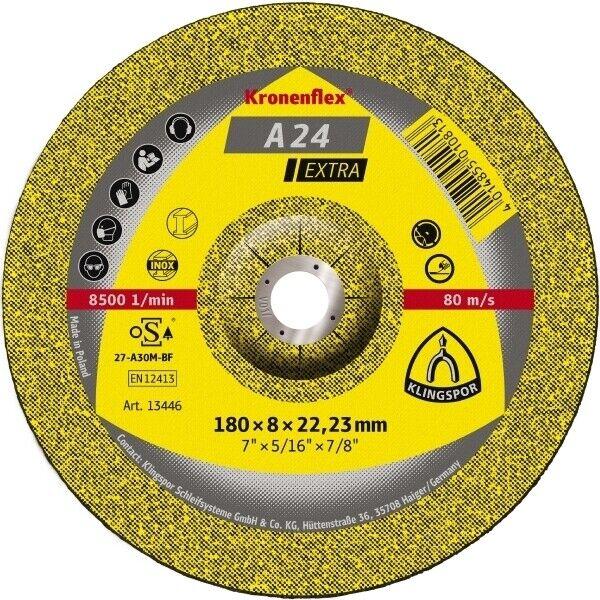 Silverline Metallschleifscheibe mit OSA-Zertifizierung 230 x 6 x 22,23 mm