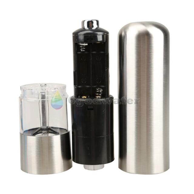 Aluminum Alloy ELECTRIC Battery Operated Salt Pepper Mill Grinder New