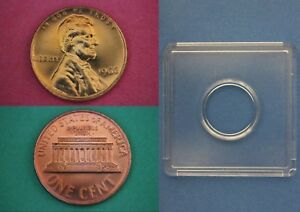 1966 SMS Abraham Lincoln Memorial Cent Penny With 2x2 Snap Flat Rate Shipping