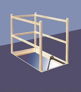 schutzgitter aus holz f r zyrus dachbodentreppe. Black Bedroom Furniture Sets. Home Design Ideas