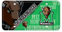 Marshall Thundering Herd Design 280204 Metal License Plate Tag University Of