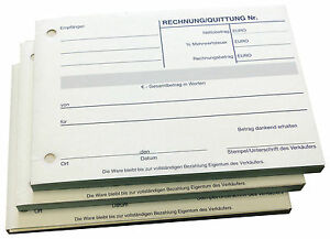 10 Stück Quittungsblock Quittung 2x40 Blatt Selbstdurchschreibend (22403)