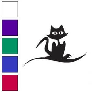 Cat Creepy Cute Art Decal Sticker Choose Pattern Size #2354