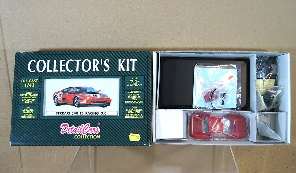Detailcars Scala Cdc 8014 Ferrari 348 Tb Racing Gc Auto N.18 Die Cast Kit Nuovo