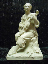 """VINTAGE 1975  CLAY SCULPTURE OF CHINESE MUSICIAN AUSTIN PROD. INC. 11"""" tall"""