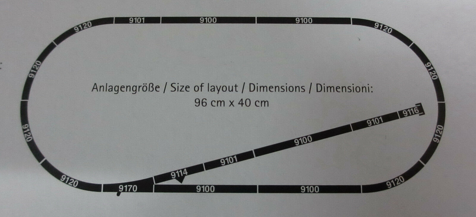 Fleischmann N PROFI-Set di binario con ballast letto morbida/Rotaie/binari