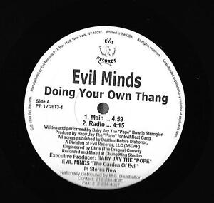 Details about EVIL MINDS-EVIL RECORDS-DOING YOUR OWN THANG-RAP/HIP-HOP  PROMO WHITE LABEL NM
