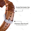 18mm-Quick-Release-Band-Leather-Strap-For-Gen-4-Smartwatch-Fossil-Q-Venture-HR thumbnail 47