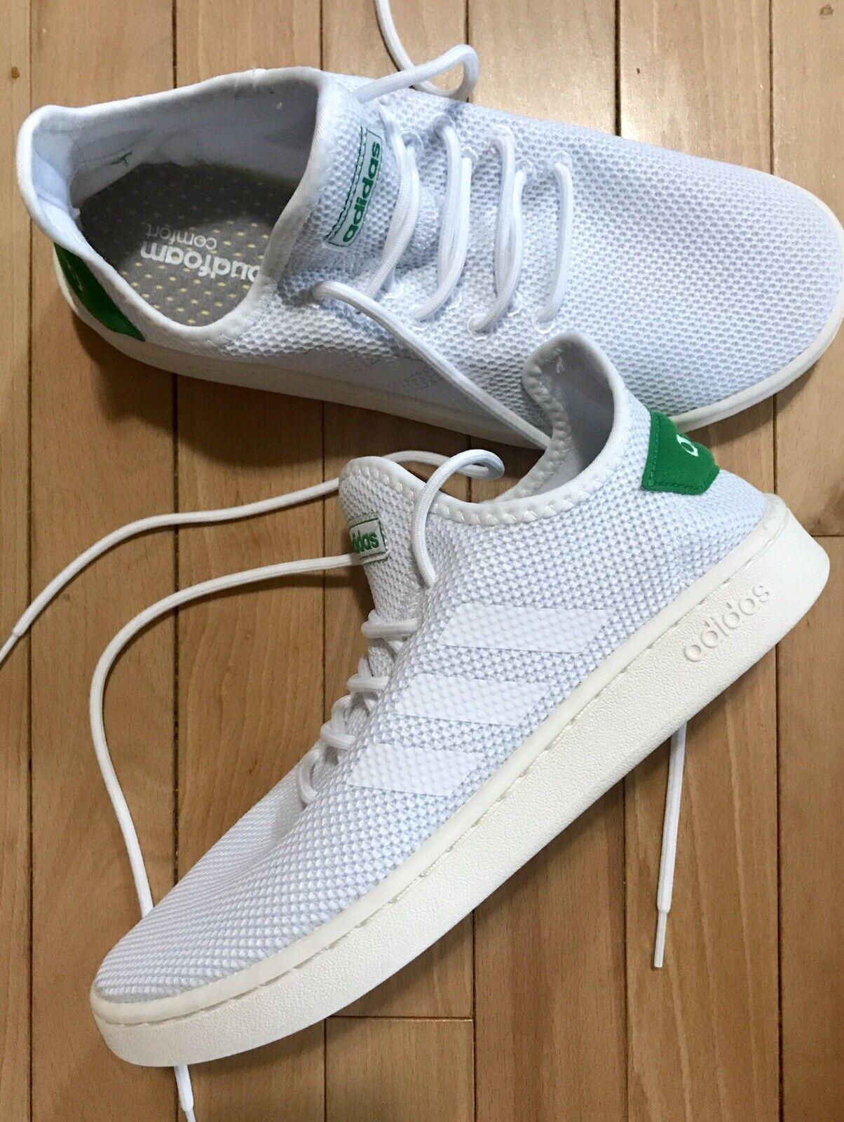 d8b58d957a2 Brand New Adidas Size 8.5 White White White Green shoes f5cc48 ...